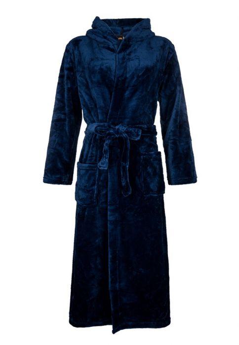 a9f932a9d4e Capuchon badjas fleece - blauwe badjas