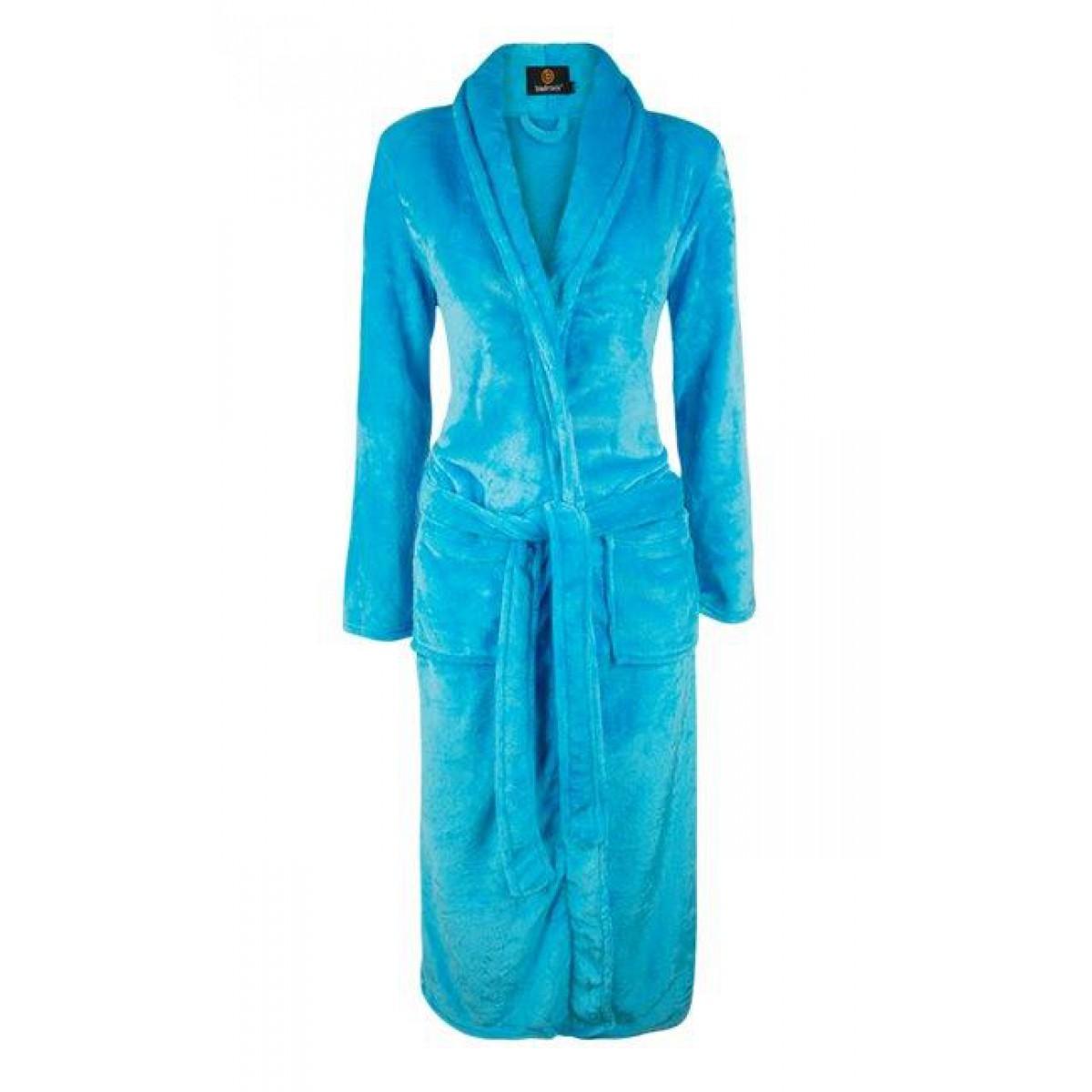 Aquablauwe damesbadjas