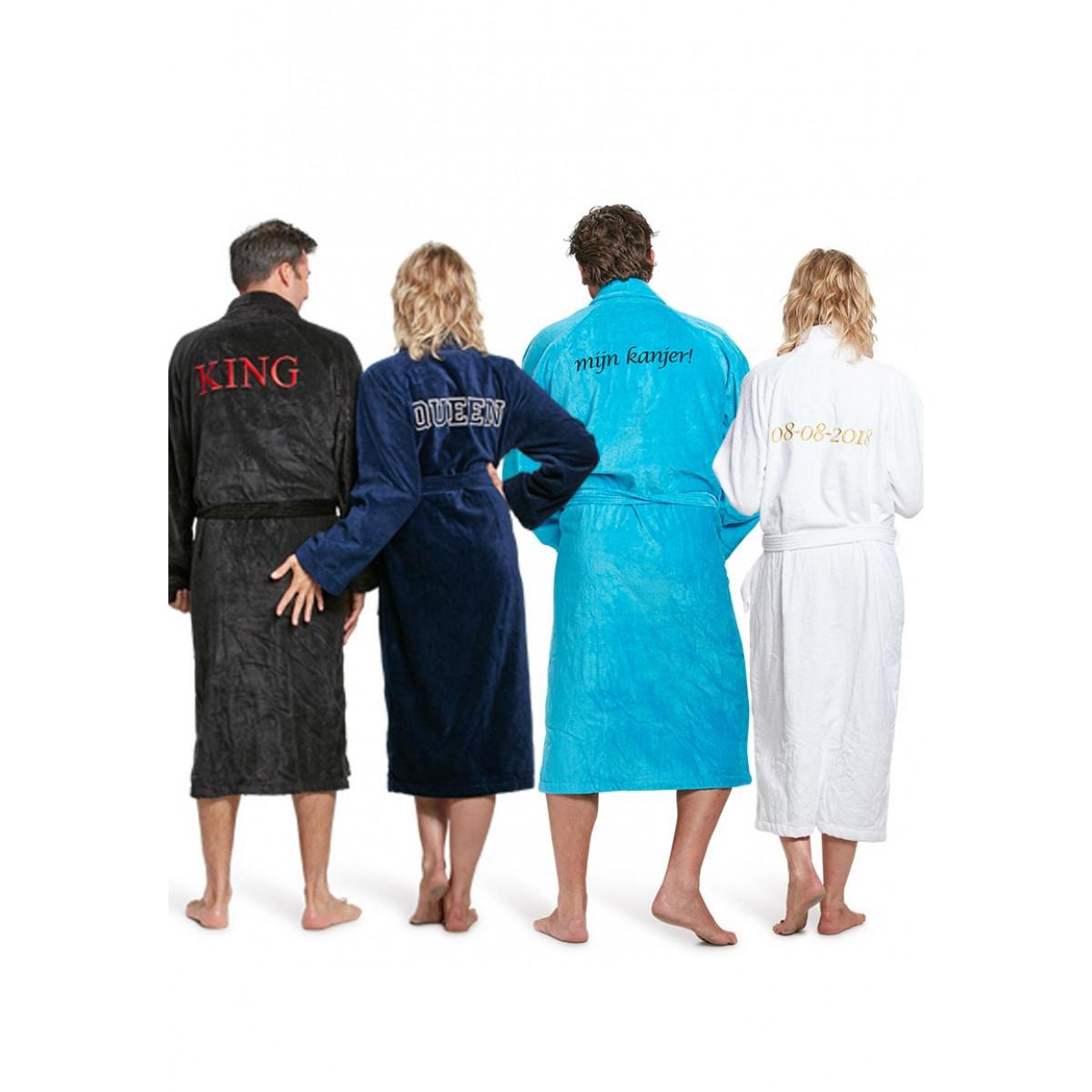 Badjas met naam  (9 kleuren)