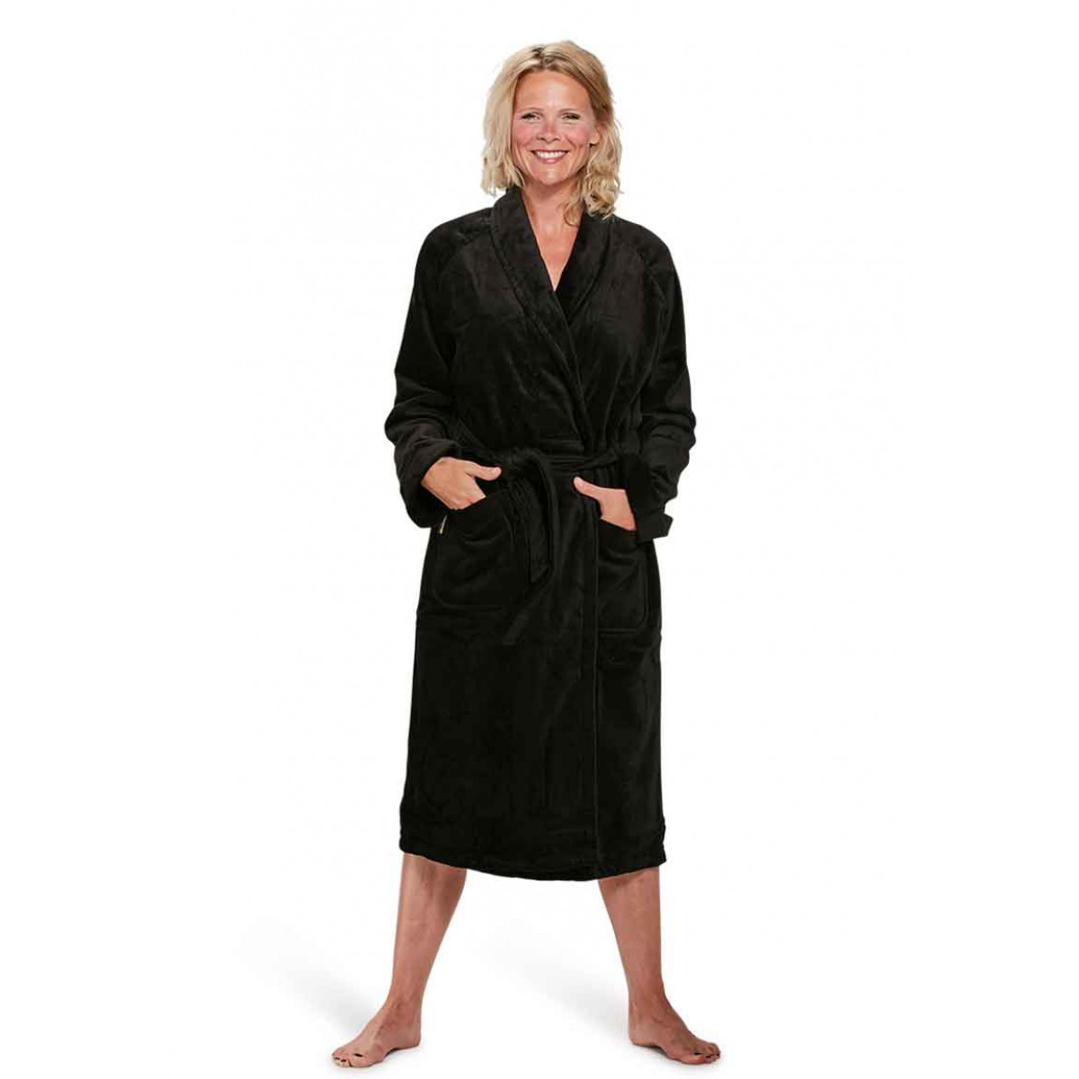 Zwarte-badjas