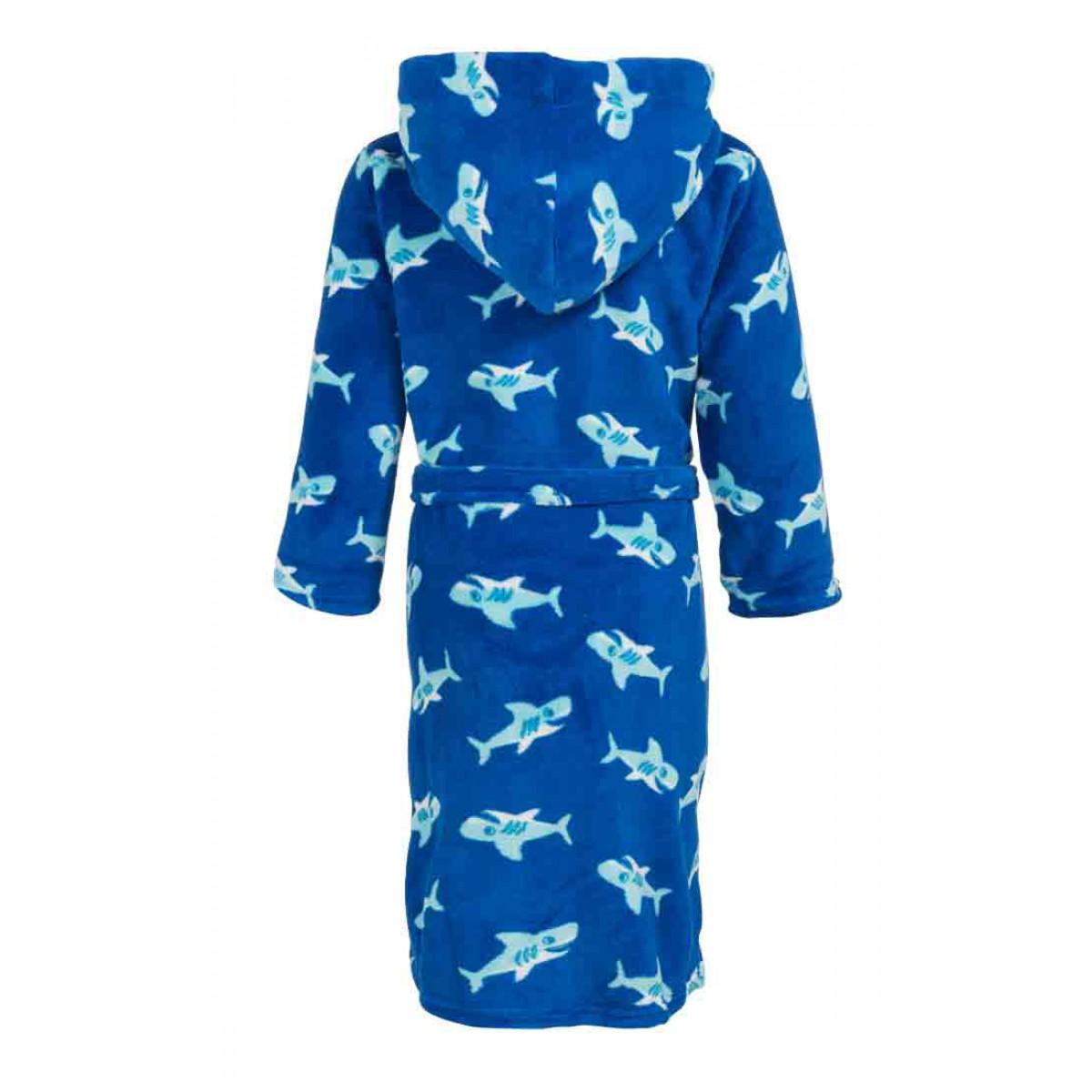 kinder badjas met haaien