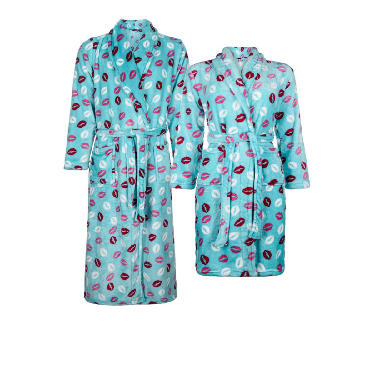 badjas met zoentjes