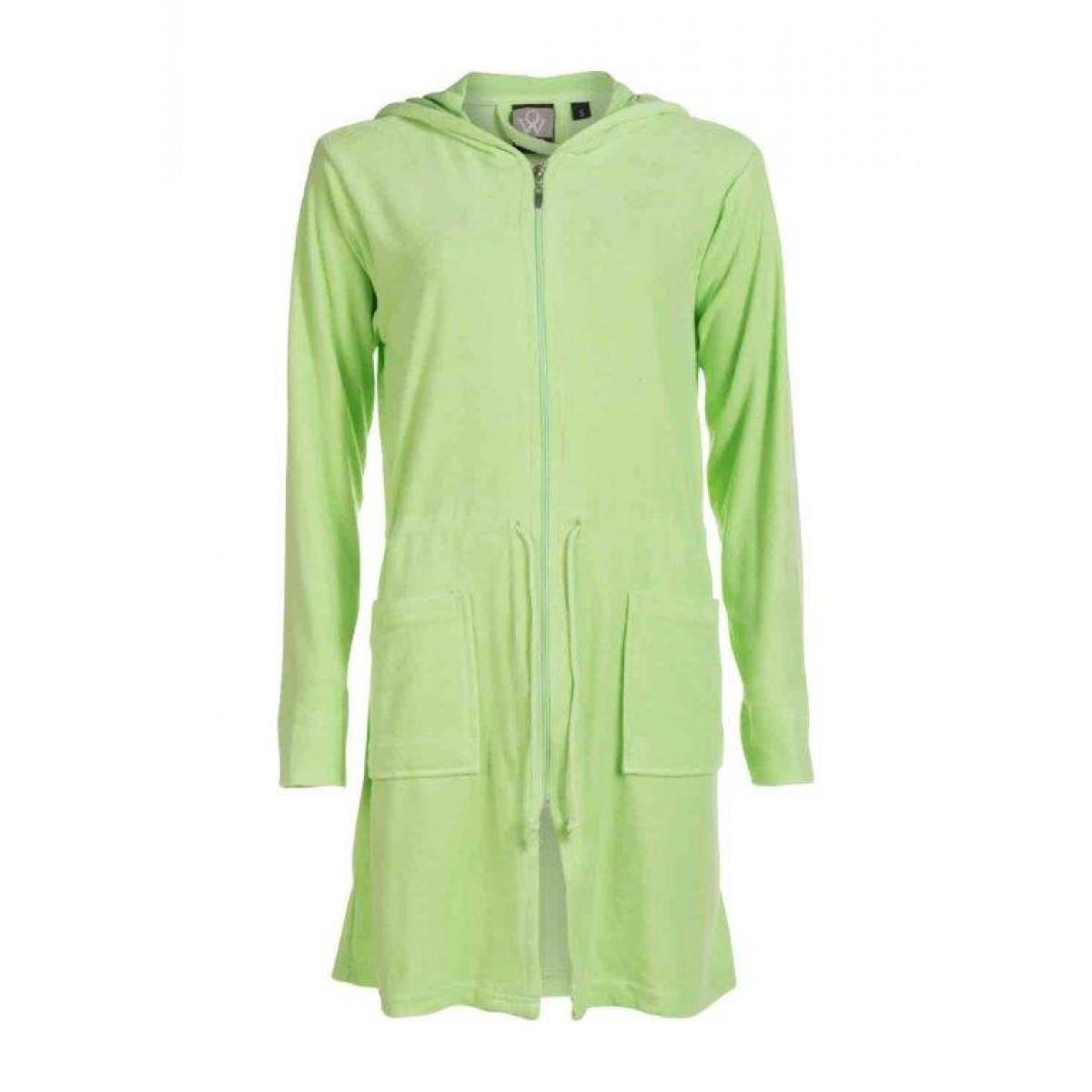 Groene dames badjas met rits