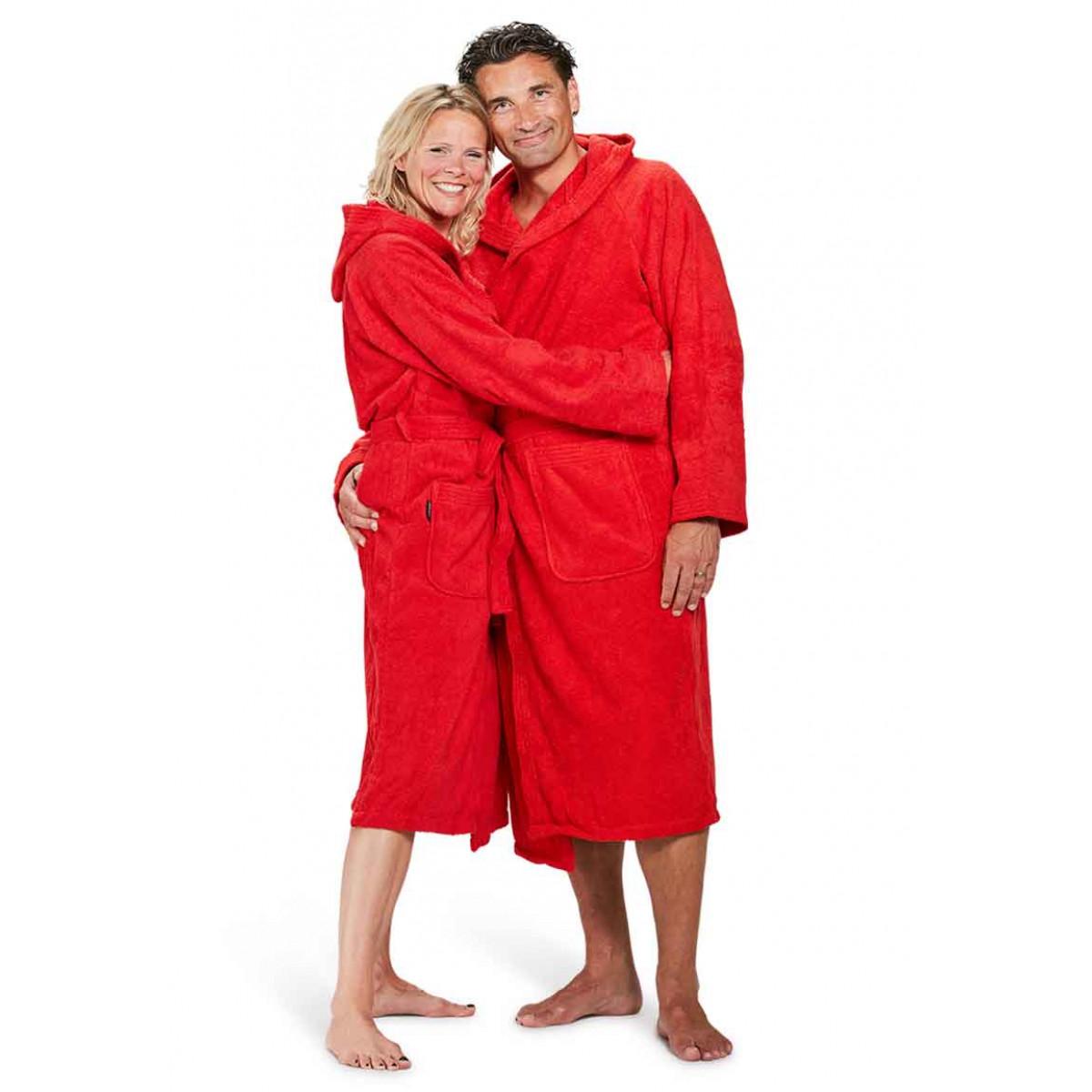 Capuchon badjas rood