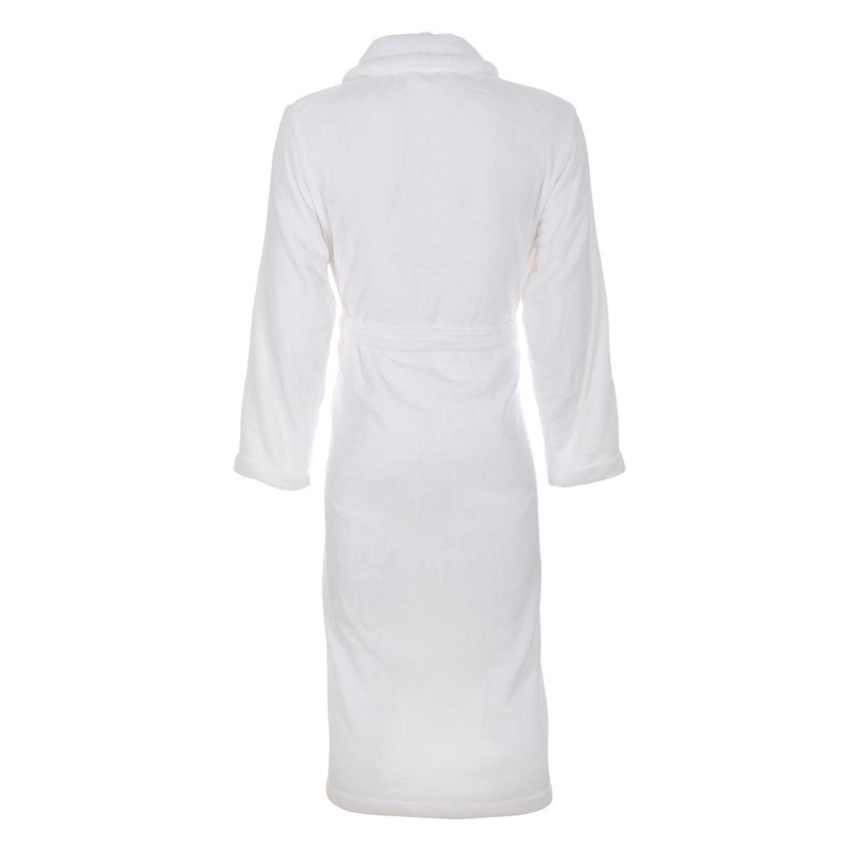 Effen witte badjas