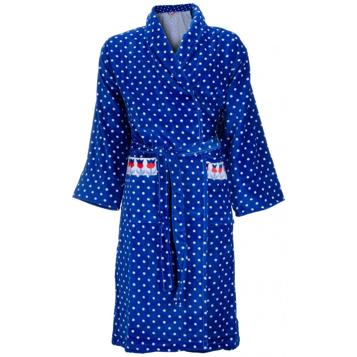 Blauwe damesbadjas Cozz