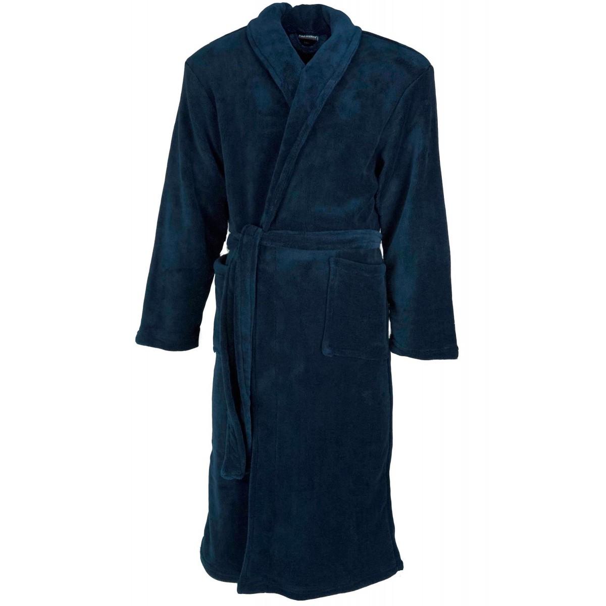 blauwe heren badjas