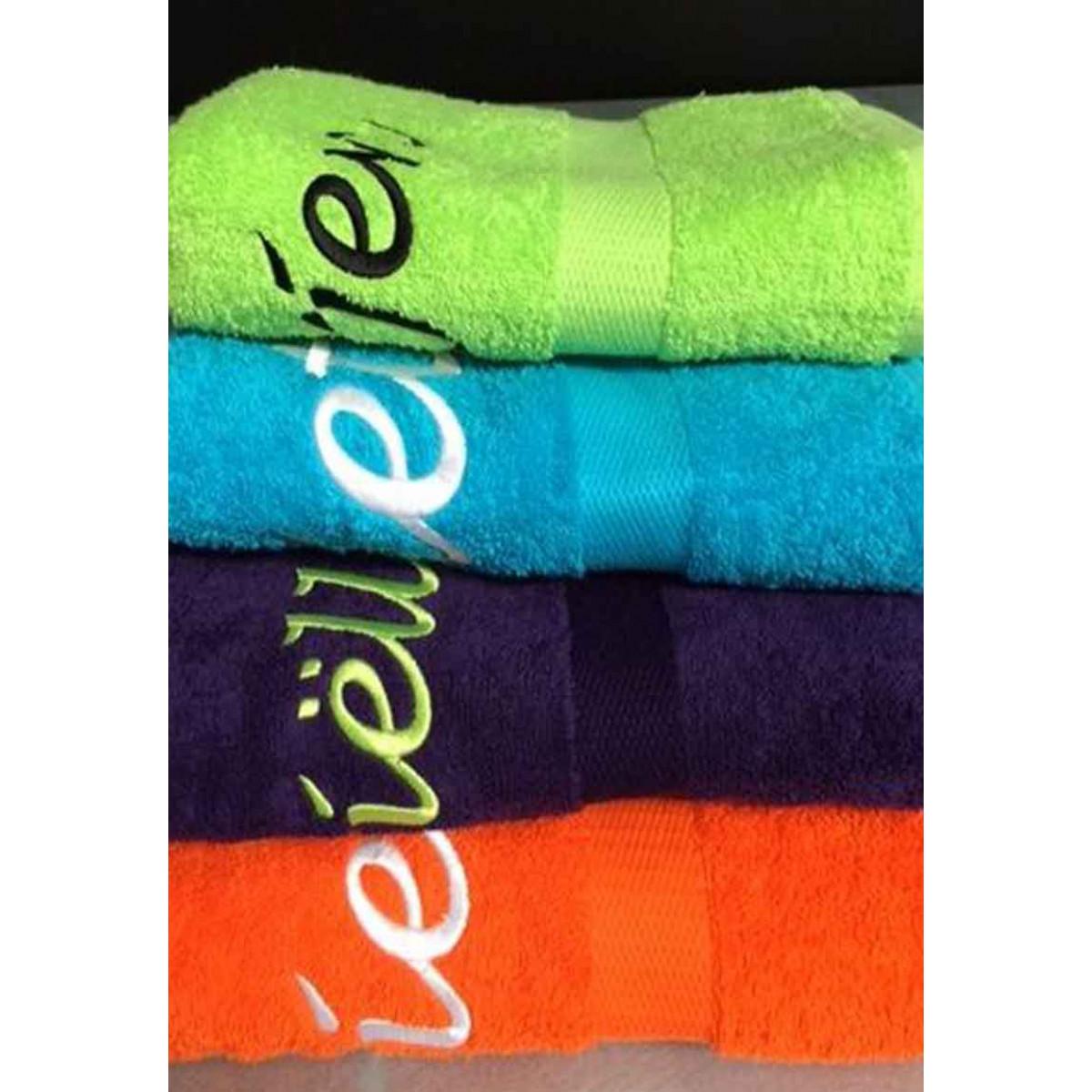 geborduurde handdoek met naam