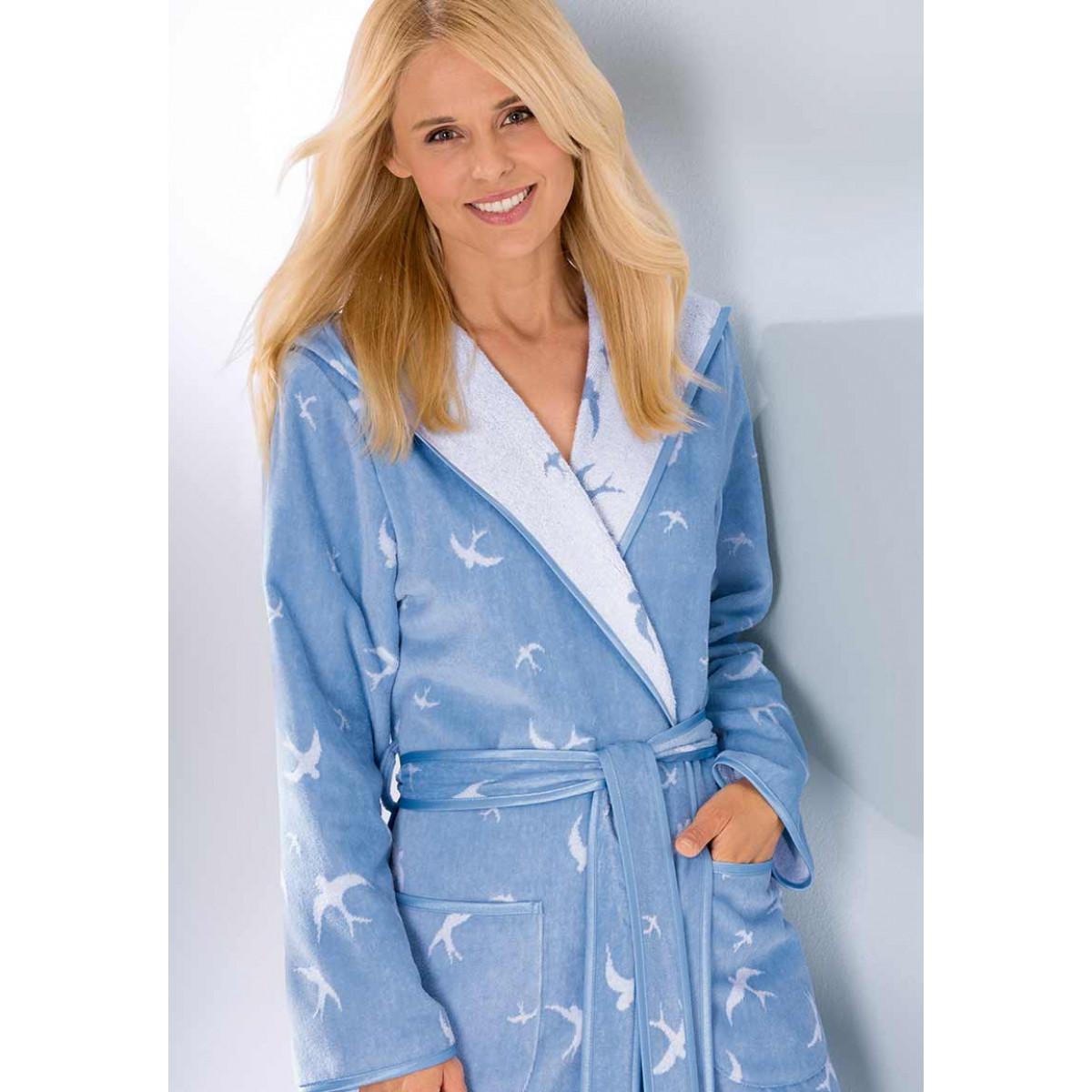 elengante badjas lichtblauw