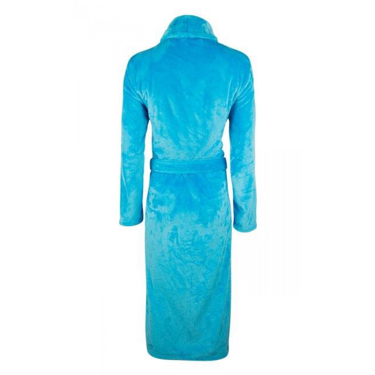 Dames badjas aquablauw