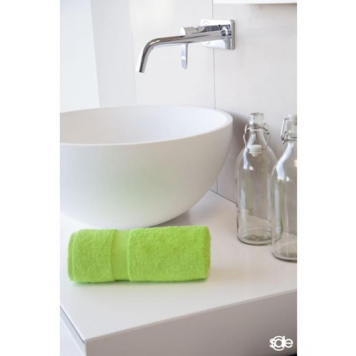 handdoek limegroen