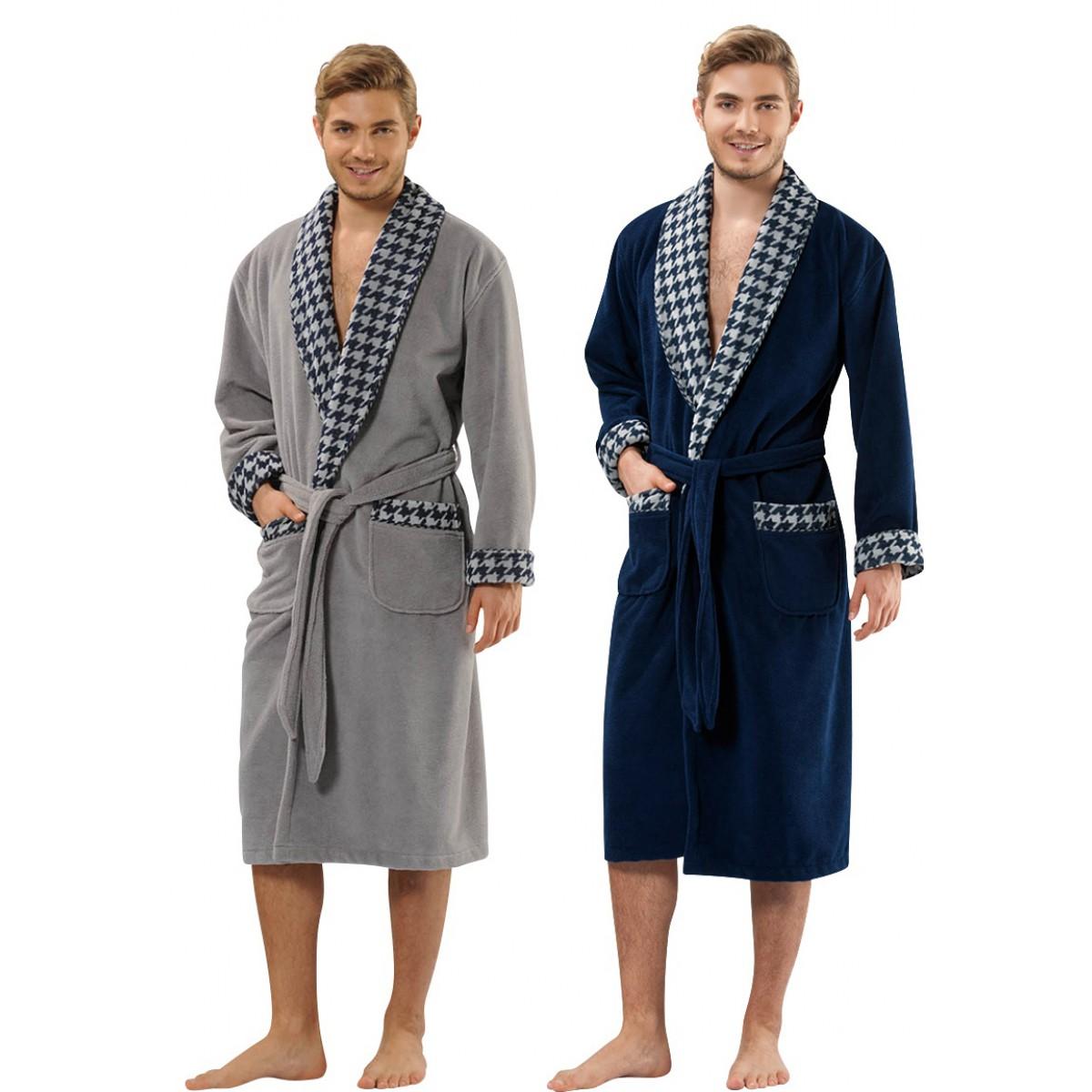Luxe badjas met sjaalkraag