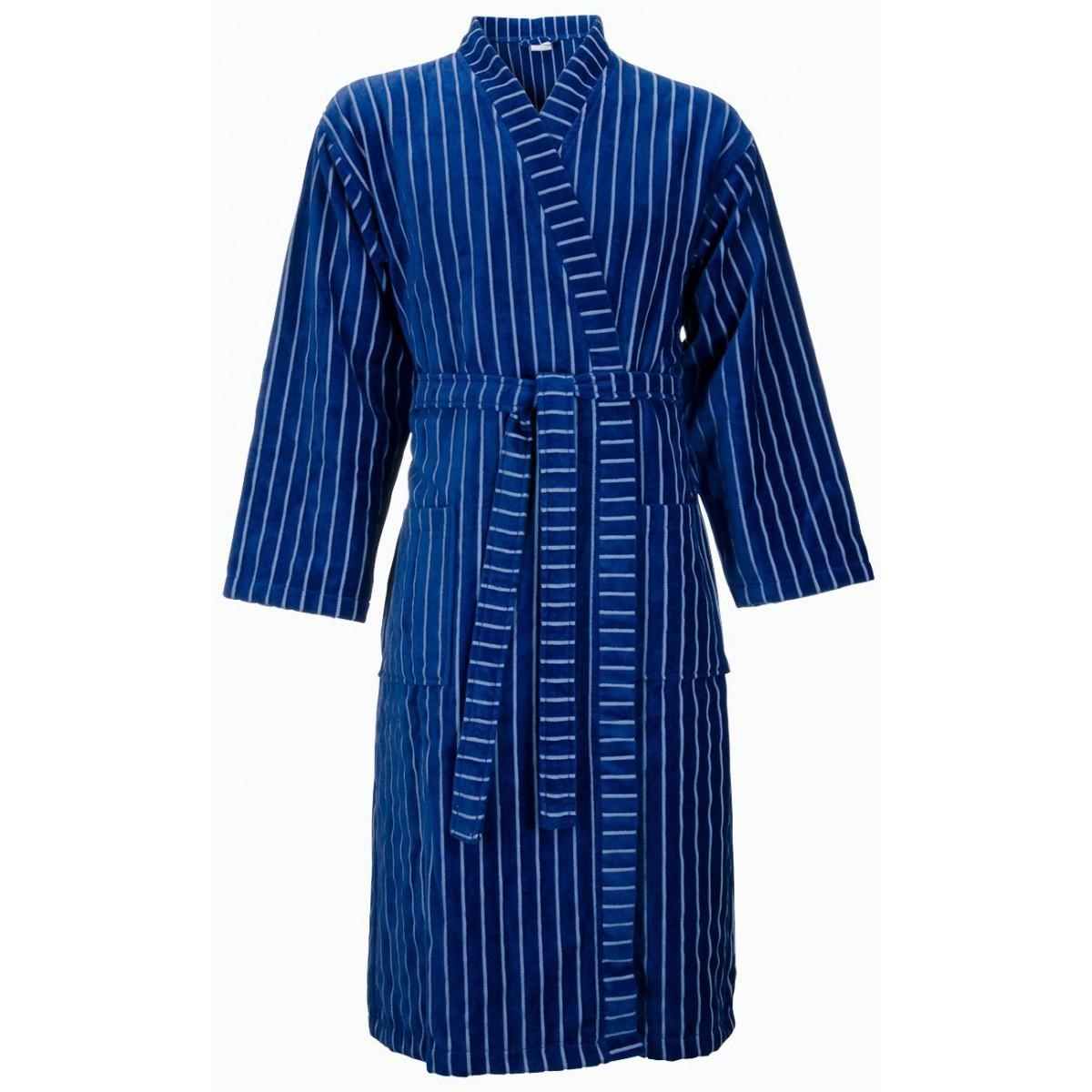 Blauwe kimonobadjas heren