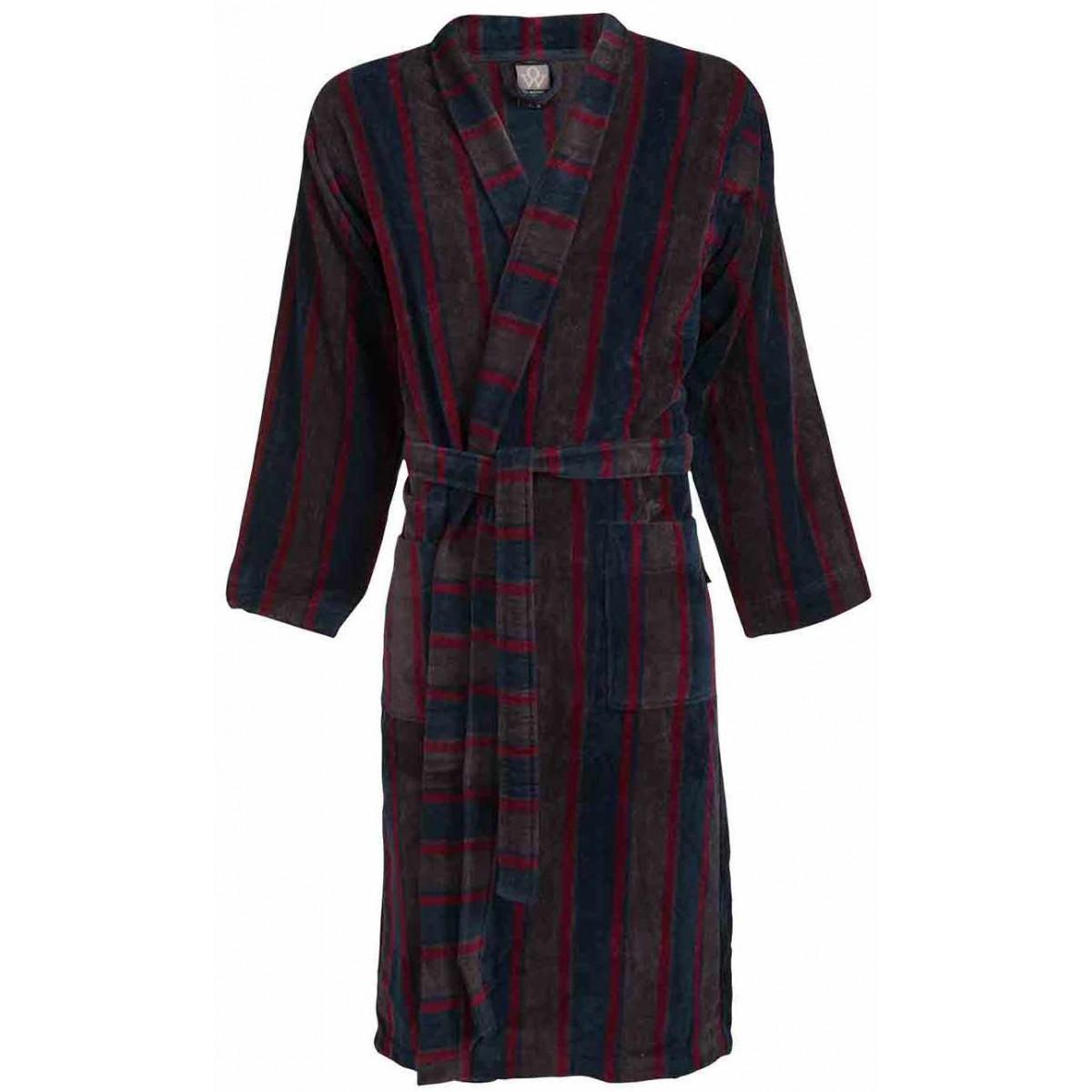 Rode heren-badjas kimono