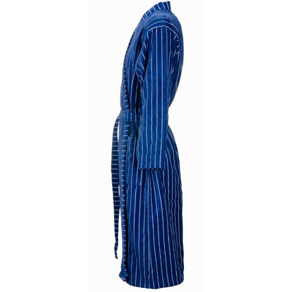 Blauwe kimono badjas heren
