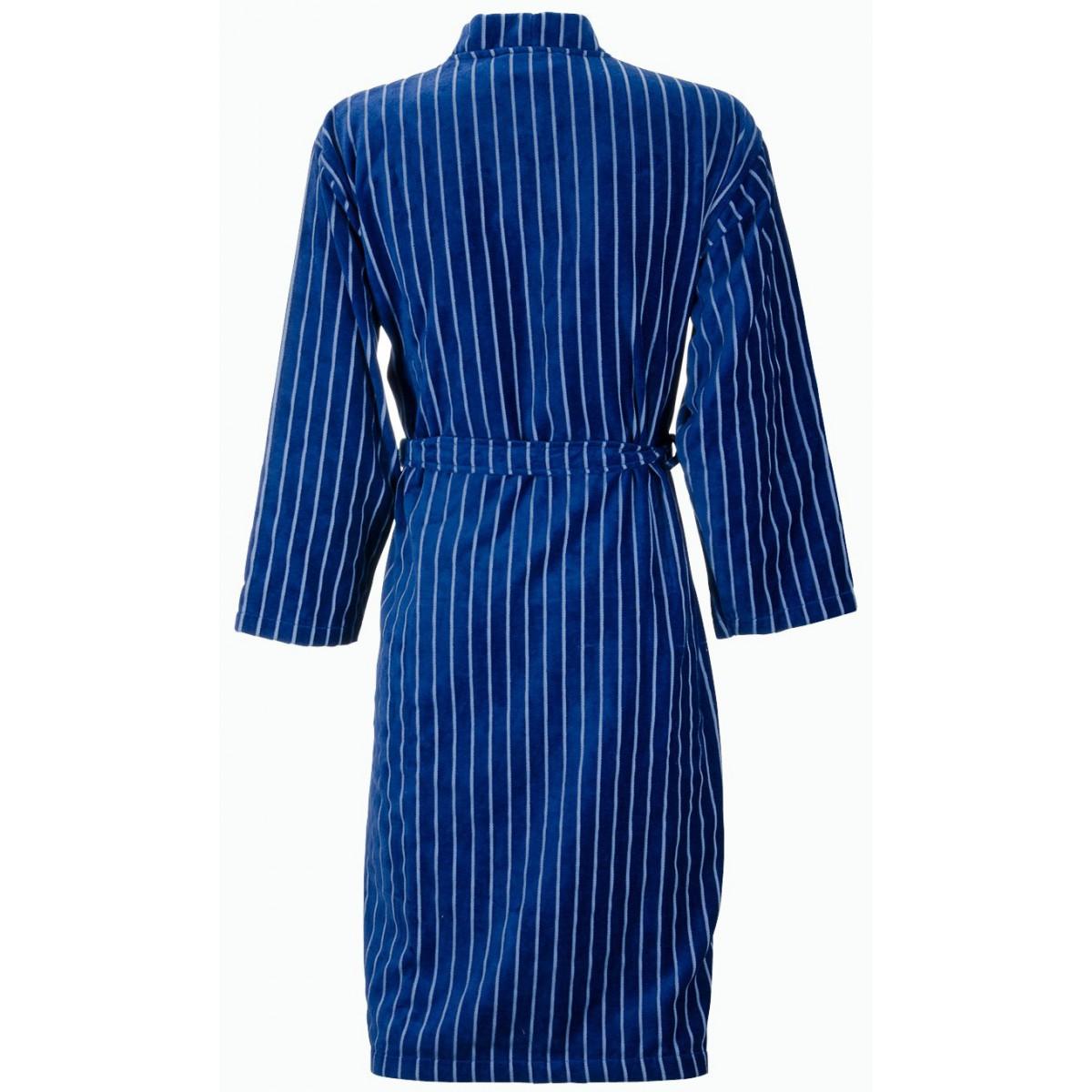 Blauwe kimono-badjas heren