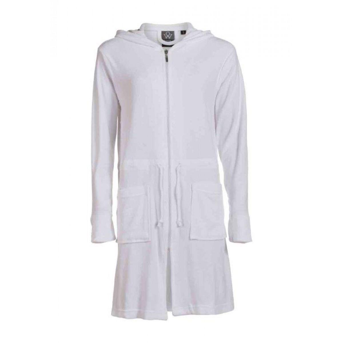 Witte damesbadjassen met rits
