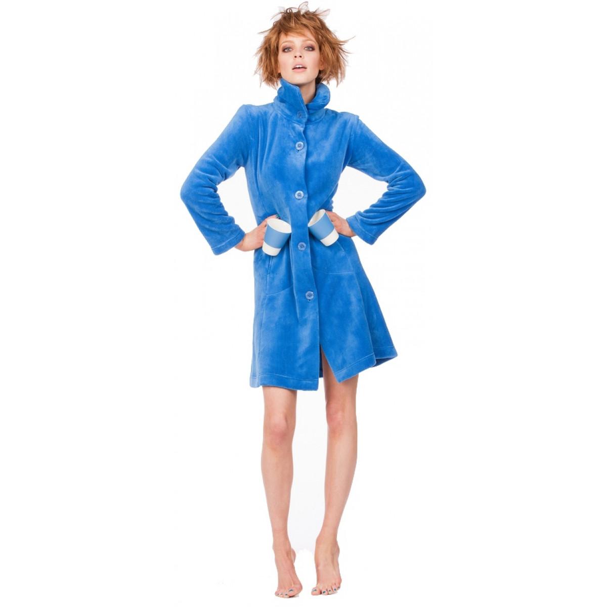 Woody badjas blauw