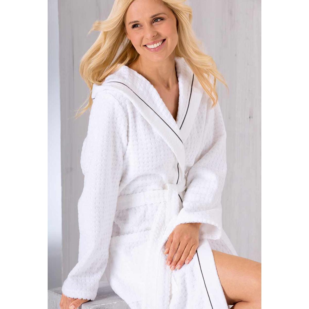 luxe witte badjas Cawö