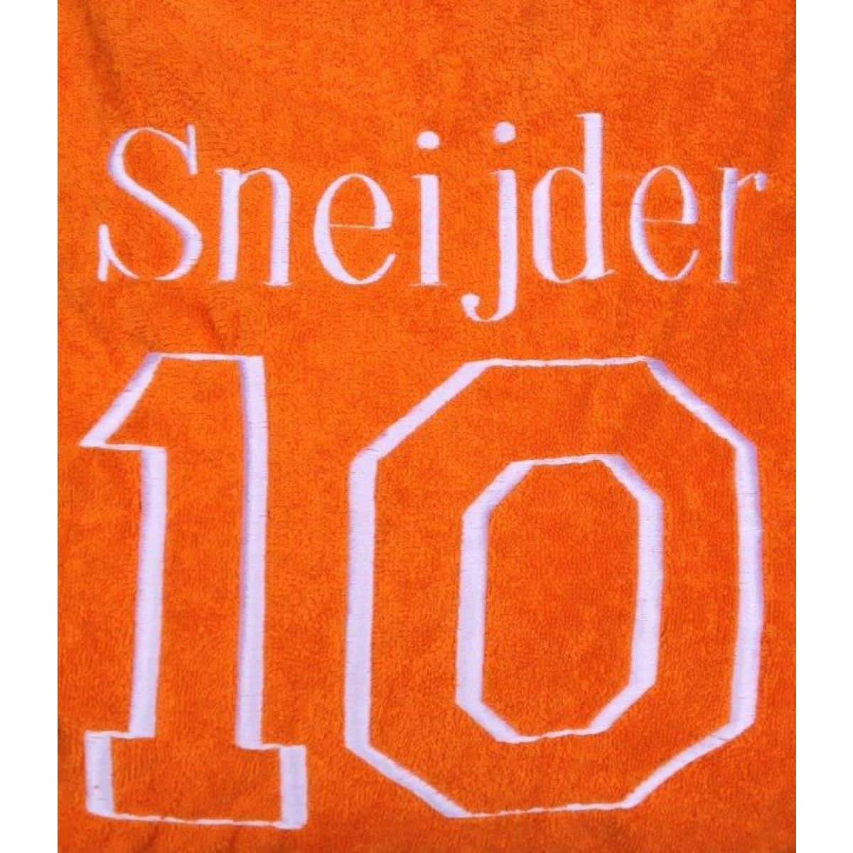 Oranje voetbal badjas
