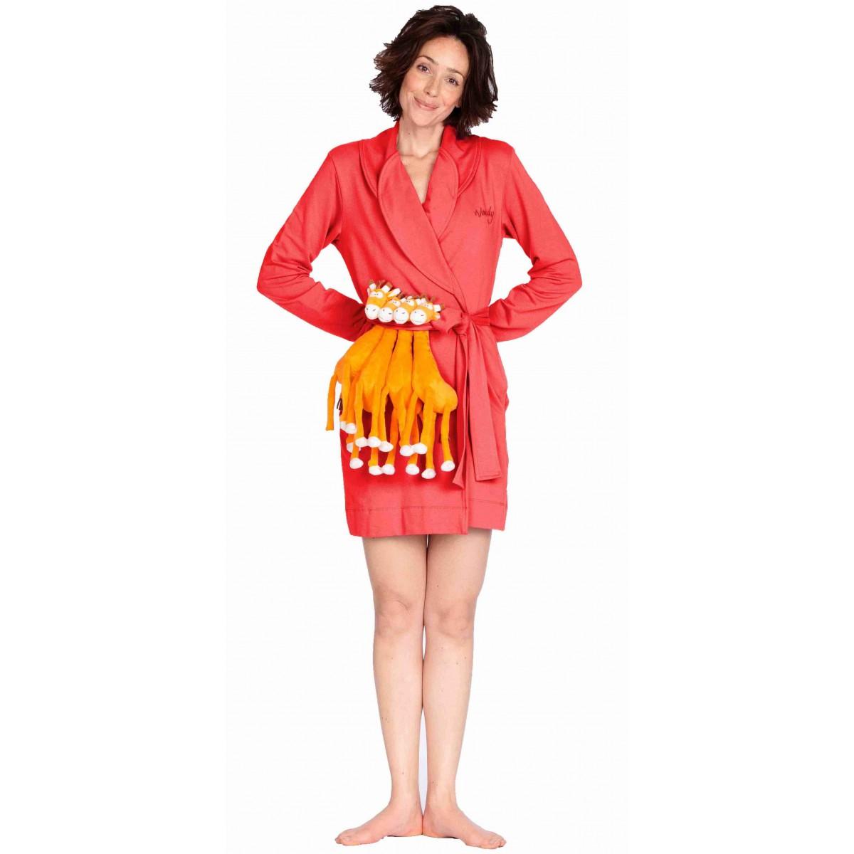 bjnl -rode dames badjas Woody
