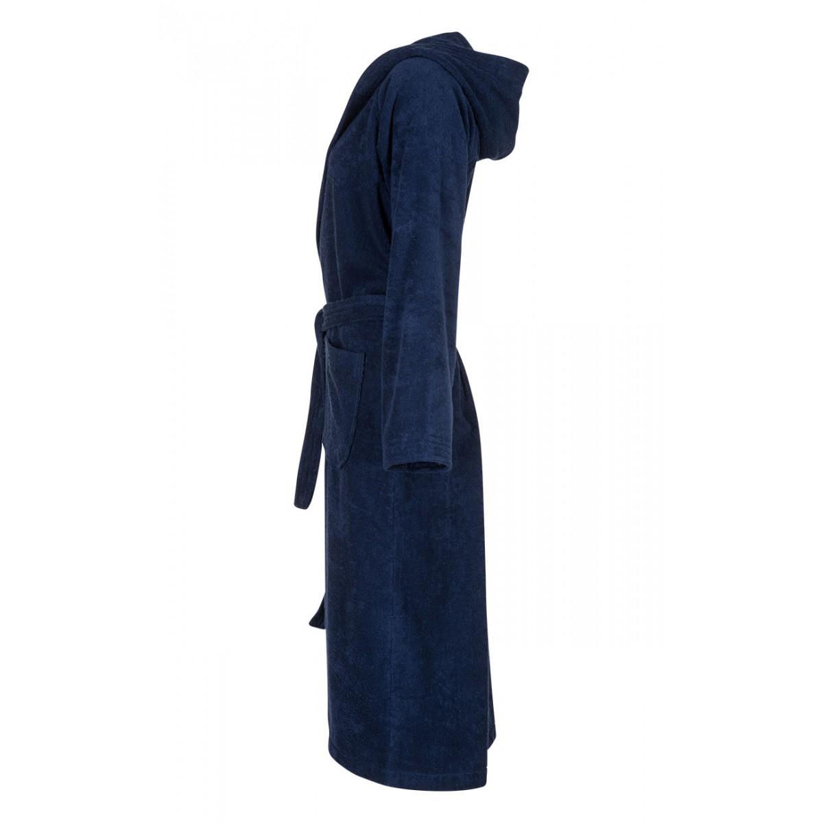 donkerblauwe badjas unisex