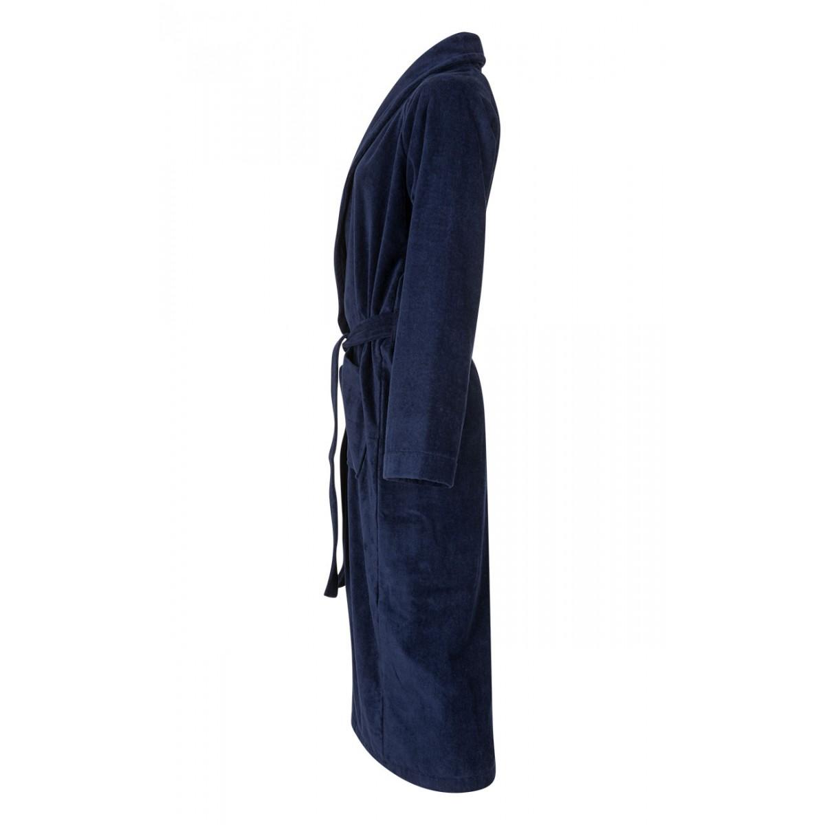 Marine-blauwe badjas