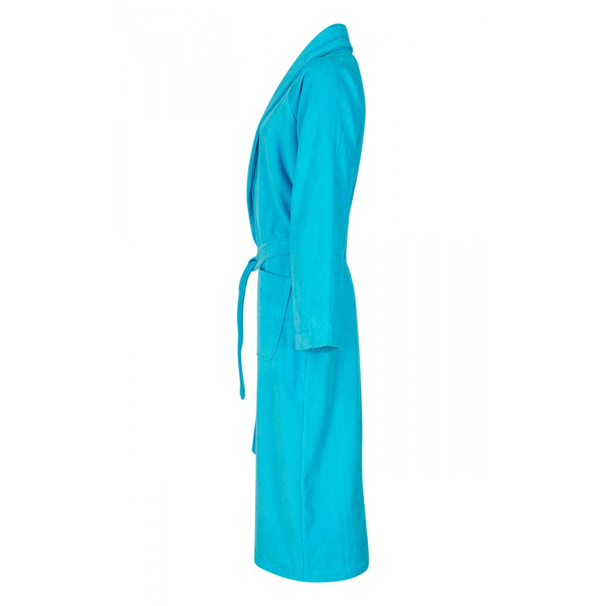 Velours badjas turquoise