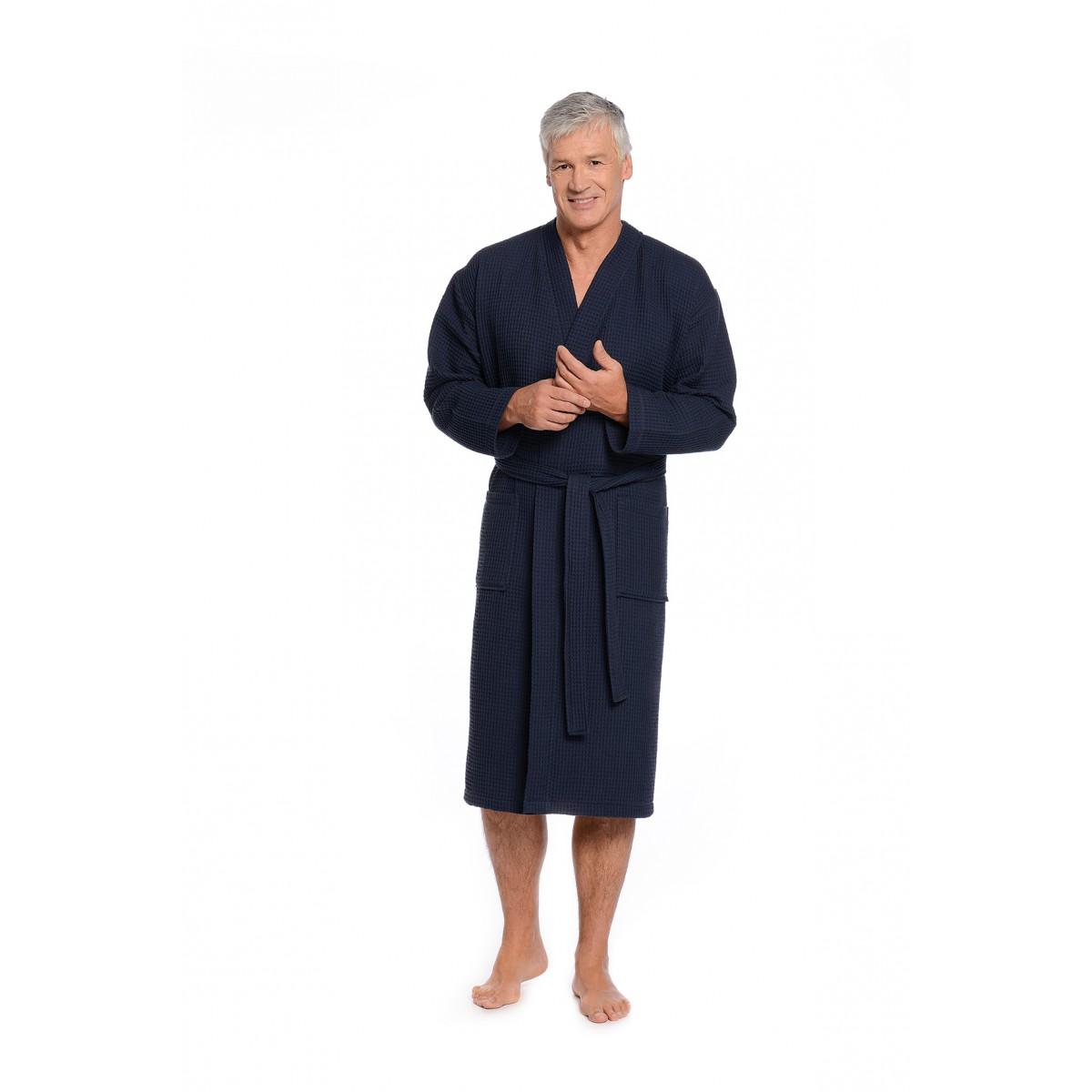 Wafel badjas kimono heren