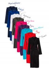 Capuchon badjas met borduring