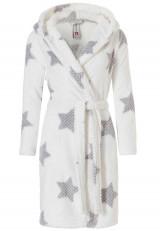 Witte sterren badjas kort model