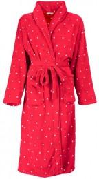 Rode badjas met ruitjes