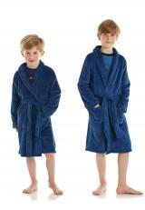 Mele blauwe badjas