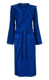 Capuchon badjas  kobaltblauw