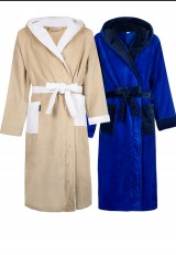 badjas met kleur accent