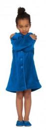 Meisjesbadjas Woody blauw