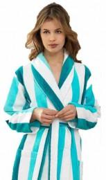 Turquoise badjas Vandyck Prestige