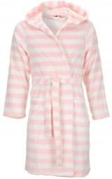 badjas roze-wit gestreept