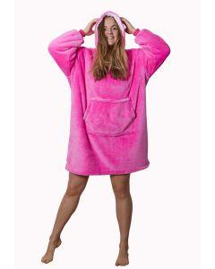 Snuggie fleece met hoodie