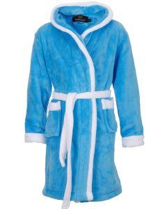 Aquablauwe kinderbadjas