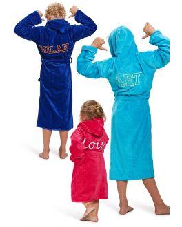 Kinder-badjas met naam