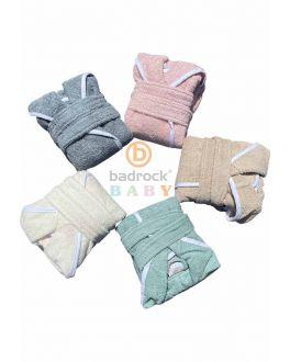 Baby badjas met naam – katoen – 5 kleuren