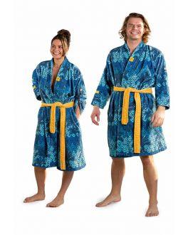 Zachte katoenen badjas art-dessin voor hem & haar
