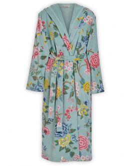 Pip studio badjas blauw dames met bloemen