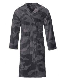 Camouflage badjas grijs