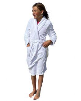 Kinderbadjas wit fleece