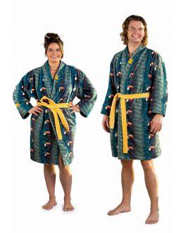 Zachte katoenen badjas toekan