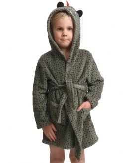 Dino kinderbadjas jongens - fleece