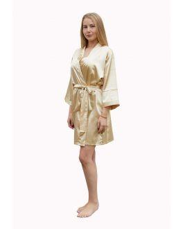 Kimono champagne – satijnen look