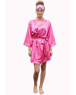 Kimono donker roze – satijnen look